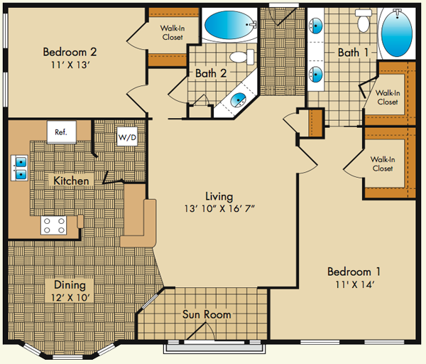 Dobson Mills Philadelphia Luxury Apartments | Floor Plans - Apartment Fs